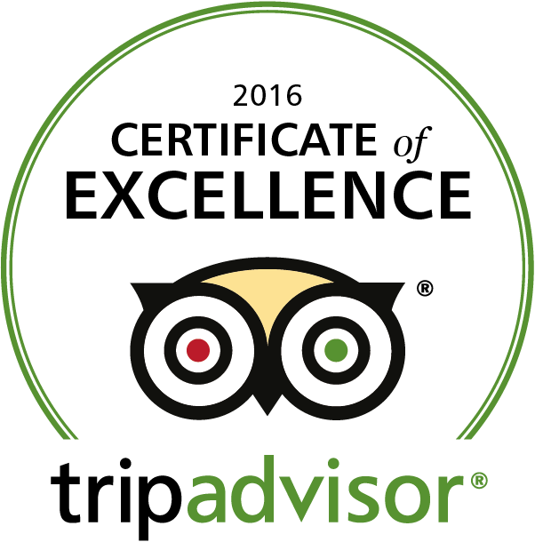 Trip Advisor Certificate of Excellent 2016